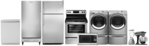 Line of appliances large and small